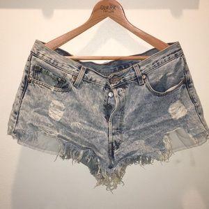 Vintage Levi 501 cut off shorts